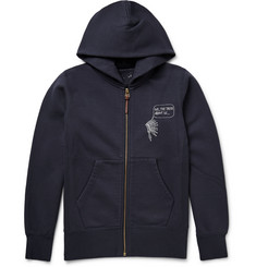 Visvim Zip-Up Printed Loopback Cotton-Jersey Hoodie