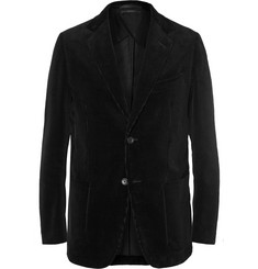 Dunhill Navy Fitzrovia Slim-Fit Cotton-Corduroy Blazer