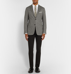 Dunhill Grey Fitzrovia Slim-Fit Herringbone Tweed Blazer