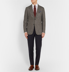 Dunhill Fitzrovia Slim-Fit Flecked Wool Blazer