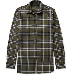 Dunhill Slim-Fit Checked Cotton-Twill Shirt