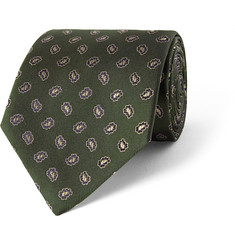 Dunhill Patterned Silk-Jacquard Tie