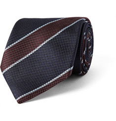 Dunhill Striped Textured-Silk Tie