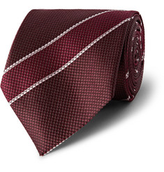 Dunhill Striped Silk-Jacquard Tie