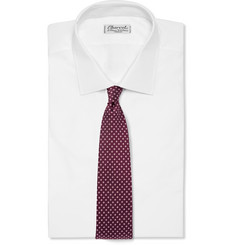 Dunhill Floral Silk-Jacquard Tie