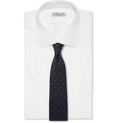 Dunhill Dot-Embroidered Woven Silk Tie