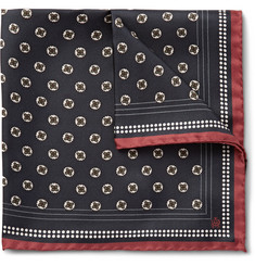 Dunhill Medallion-Print Silk-Twill Pocket Square