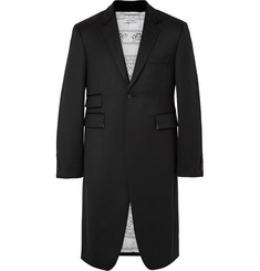 Thom Browne Slim-Fit Velvet-Trimmed Wool Cavalry-Twill Coat