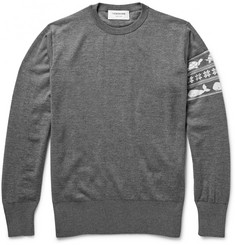 Thom Browne Jacquard-Knit Wool Sweater