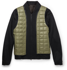 Tim Coppens Wool and Cashmere-Blend Bomber Jacket with Detachable Gilet