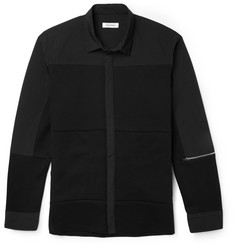 Tim Coppens Jersey-Panelled Cotton-Blend Shirt