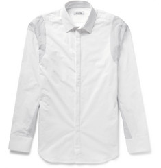 Tim Coppens Slim-Fit Panelled Cotton-Poplin Shirt