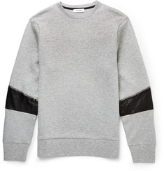 Tim Coppens Leather-Panelled Cotton-Blend Jersey Sweatshirt