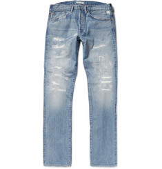 Ron Herman Distressed Japanese Washed-Denim Jeans