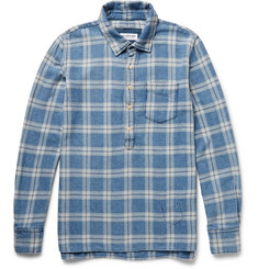 Ron Herman Slim-Fit Checked Brushed-Cotton Shirt