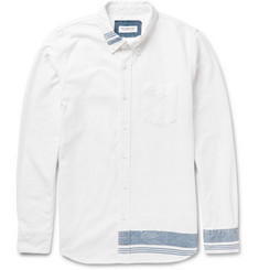 Ron Herman Slim-Fit Striped Cotton-Chambray Shirt