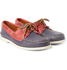 Quoddy Downeast Two-Tone Leather Boat Shoes