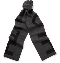 Alexander McQueen Truth Two-Tone Wool Scarf