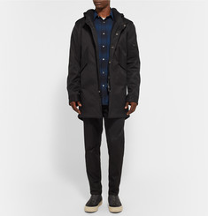 Public School Slim-Fit Panelled Checked Cotton-Flannel Shirt