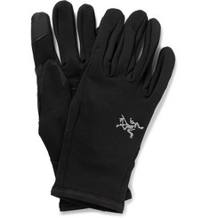 Arc'teryx Rivet Leather-Trimmed Jersey Gloves