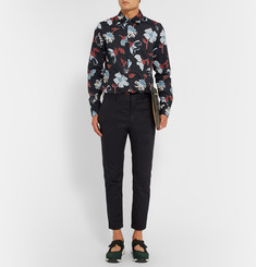 Marni Slim-Fit Cropped Cotton-Gabardine Trousers