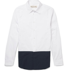 Marni Contrast-Panelled Cotton-Poplin Shirt