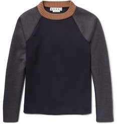 Marni Colour-Block Double-Faced Virgin Wool-Blend Sweatshirt