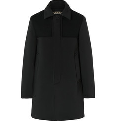 Marni Slim-Fit Felt-Panelled Neoprene Coat