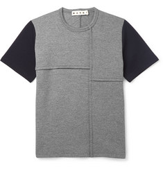 Marni Two-Tone Wool-Blend Jersey T-Shirt