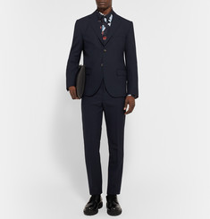 Marni Midnight-Blue Slim-Fit Wool Blazer
