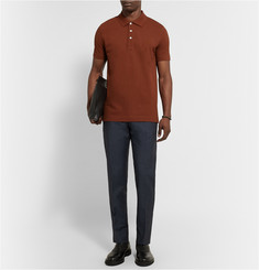 Loewe Slim-Fit Embroidered Cotton-Piqué Polo Shirt