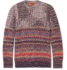 Missoni Zig-Zag Patterned Wool-Blend Sweater