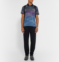 Missoni Ombré Cotton-Piqué Polo Shirt