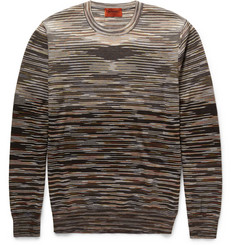 Missoni Space-Dye Knitted Wool-Blend T-Shirt