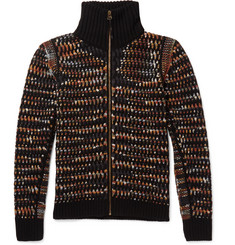 Missoni Textured Zip-Up Cashmere Cardigan