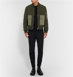 Neil Barrett Wool-Felt Bomber Jacket