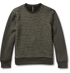 Neil Barrett Tweed and Neoprene Sweatshirt