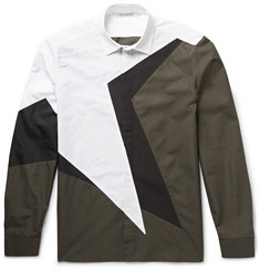 Neil Barrett Slim-Fit Panelled Cotton-Poplin Shirt