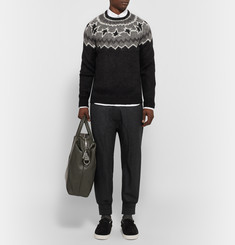 Neil Barrett Cropped Wool-Blend Flannel Trousers