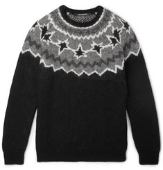 Neil Barrett Slim-Fit Intarsia-Knitted Sweater