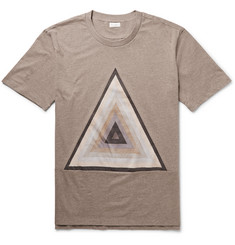 Paul Smith Printed Mélange Cotton-Jersey T-Shirt