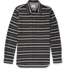 Paul Smith Striped Cotton, Modal and Wool-Blend Shirt