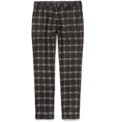 Paul Smith Slim-Fit Checked Baby Alpaca-Blend Trousers