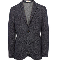 Boglioli Midnight-Blue Dover Slim-Fit Textured-Knit Blazer