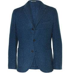 Boglioli Blue Slim-Fit Herringbone Wool Blazer