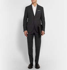 Boglioli Charcoal Dover Slim-Fit Checked Wool Suit