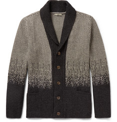 Boglioli Shawl-Collar Virgin Wool and Cashmere-Blend Cardigan