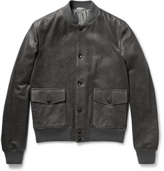 Boglioli Washed-Leather Bomber Jacket