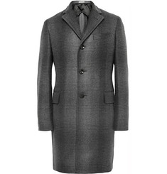Boglioli Slim-Fit Dégradé Checked Wool-Blend Coat