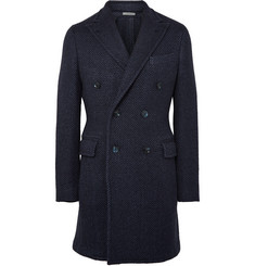 Boglioli Double-Breasted Herringbone Wool-Blend Coat